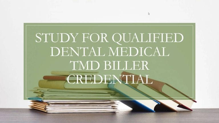Study For Qualified TMD Biller Credential